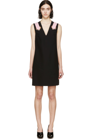 Versace - Black Silk Shift Dress