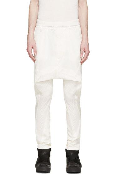 Julius - Ivory Mesh Panel Harm Trousers