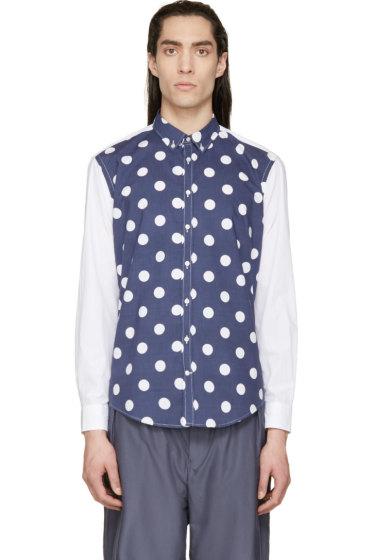 MSGM - Navy & White Polkadot Shirt