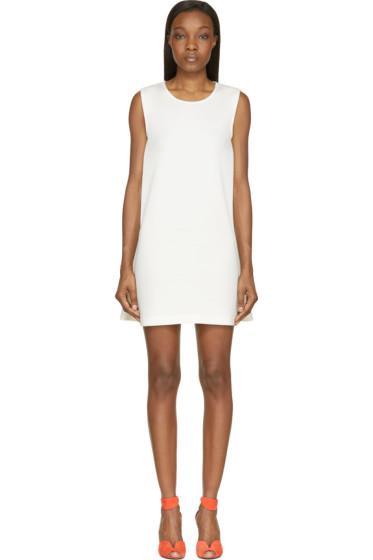 Cédric Charlier - Ecru Cotton Sleeveless Jersey Dress