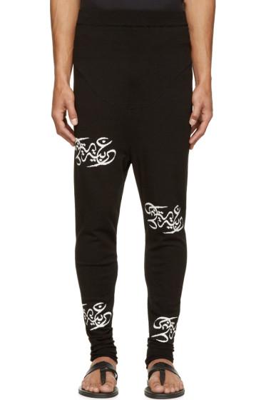 Thamanyah - Black Knit Logo Lounge Pants
