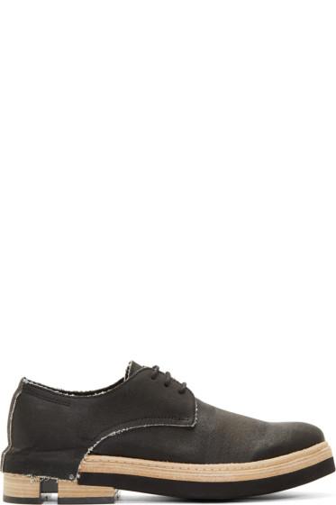 Cinzia Araia - Black Coated Notch Heel Derbys