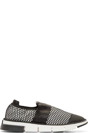 Cinzia Araia - White Mesh Slip-On Shoes