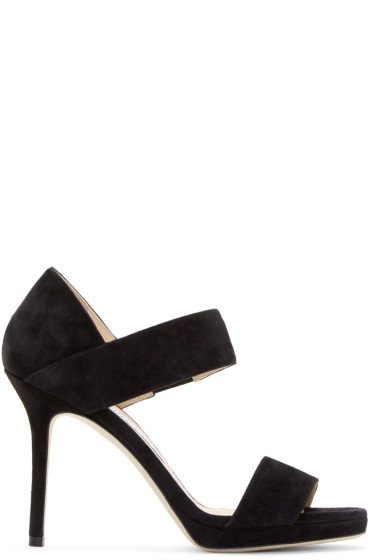 Jimmy Choo - Black Suede Alana Sandals