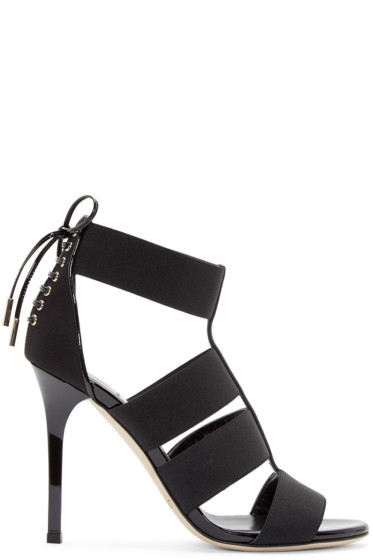 Jimmy Choo - Black Corset Dario Sandals