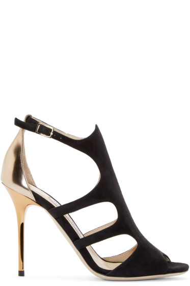 Jimmy Choo - Black Suede Tida Sandals