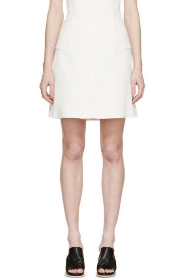 Giambattista Valli - Ivory Silk Crêpe Pocket Skirt