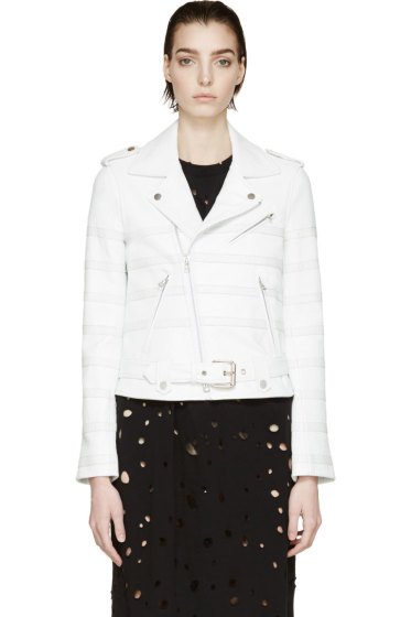 Each x Other - White Striped Biker Jacket