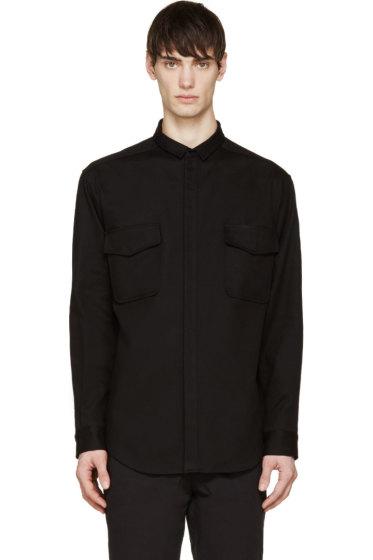 Moncler Gamme Rouge - Black Gabardine Utility Shirt