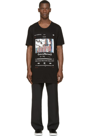 Costume N Costume - Black Oversized Layered T-Shirt