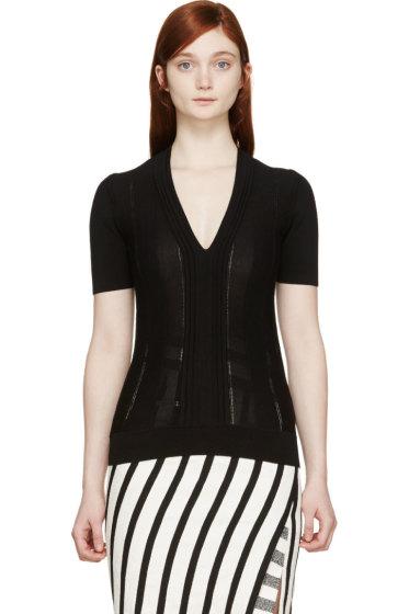 Burberry London - Black Pleated T-Shirt