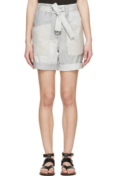 Isabel Marant - Grey Verna Patchwork Shorts