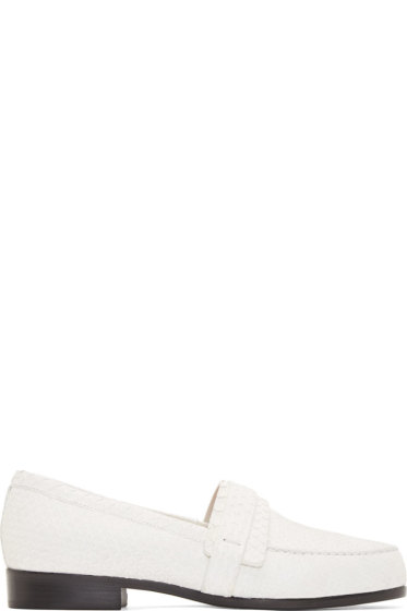 Carritz - White Python Moccasin Flats