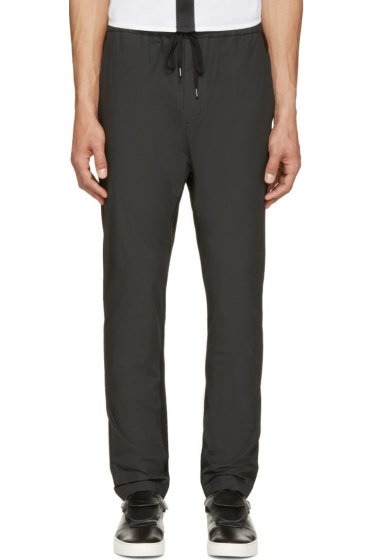 Johnlawrencesullivan - Black Coated Cotton Lounge Pants