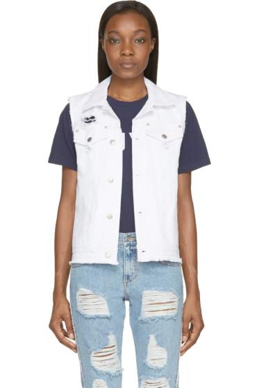 SJYP - White Open-Back Destroyed Vest