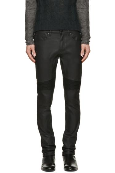 Belstaff - Black Coated Eastham Biker Jeans