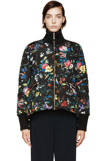 Moncler - Black Reversible Down Erdem Edition Zoey Jacket