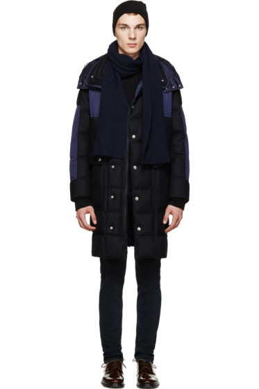 Moncler - Navy Cashmere Scarf