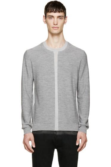 McQ Alexander McQueen - Grey Two-Tone Wool Sweater