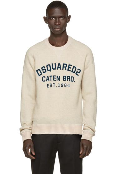Dsquared2 - Beige Wool Dean Fit Sweater