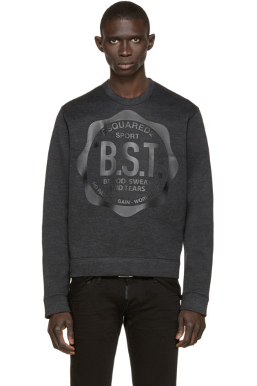 Dsquared2 - Charcoal Logo Pumpkin Sweatshirt