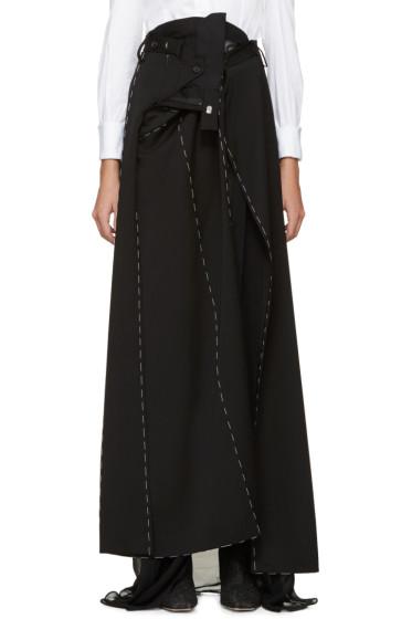 Maison Margiela - Black Superimposed Trouser Skirt