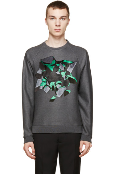 Christopher Kane - Grey Embroidered Wallbreak Sweatshirt