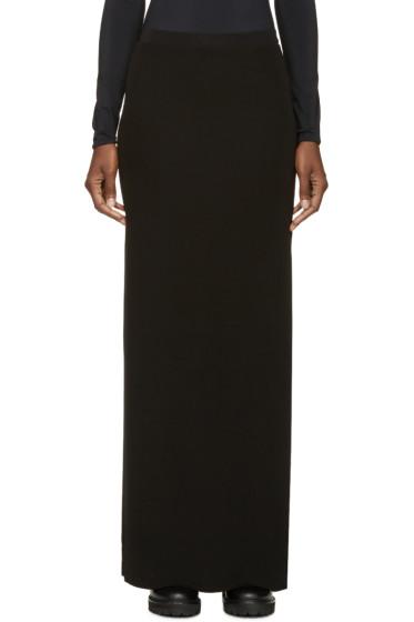 T by Alexander Wang - Black Matte Jersey Column Skirt