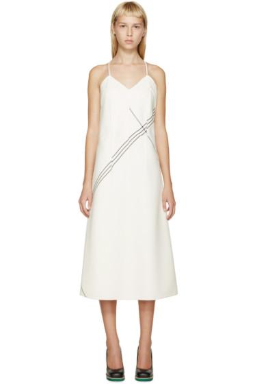 Jil Sander - Ivory Wool Striped Vernice Dress