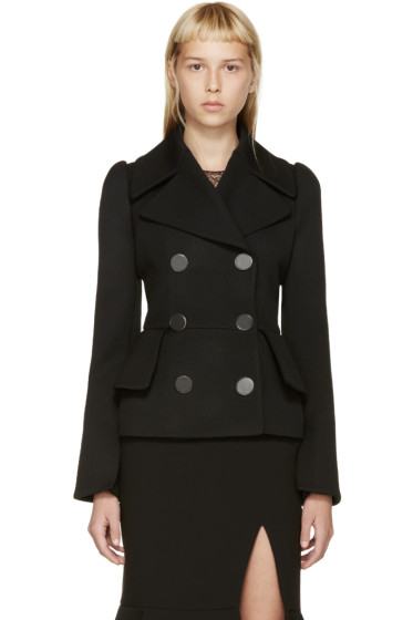 Alexander McQueen - Black Wool Double-Breasted Jacket