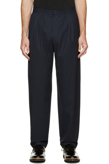 Paul Smith - Navy Patterned Trousers