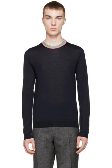 Paul Smith - Navy Merino Sweater
