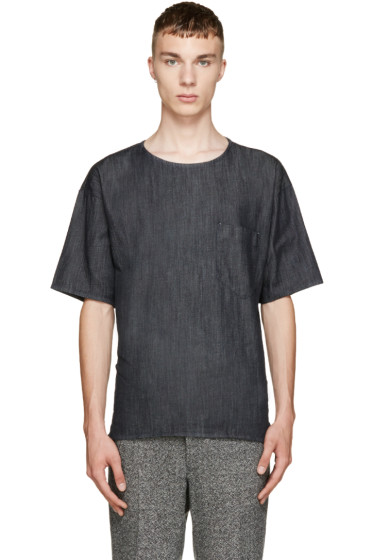 Paul Smith - Navy Oversized Denim T-Shirt
