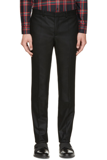 Givenchy - Black Flannel Pleated Trousers
