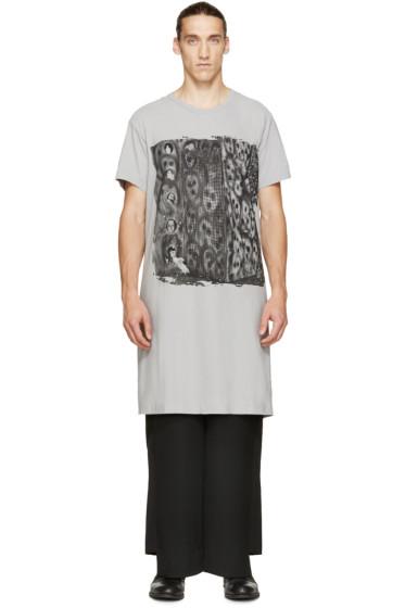 Comme des Garçons Homme Plus - Grey Oversized Graphic T-Shirt