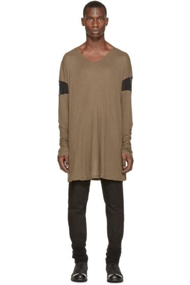 Ann Demeulemeester - Green Overlong T-Shirt