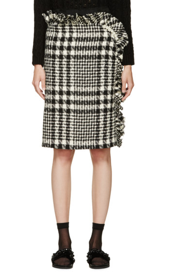 Simone Rocha - Black & White Tweed Skirt