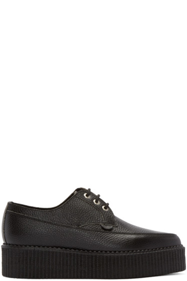 Underground - Black Leather Lace-Up Billy Creepers