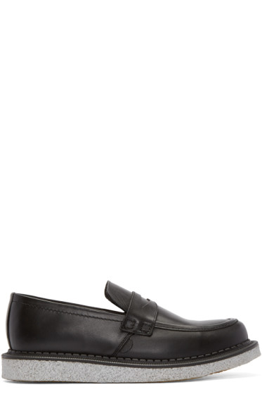 Underground - Black Leather Wulfrun Creeper Loafers