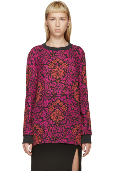 Mary Katrantzou - Fuchsia & Red Silk Floral Shirt