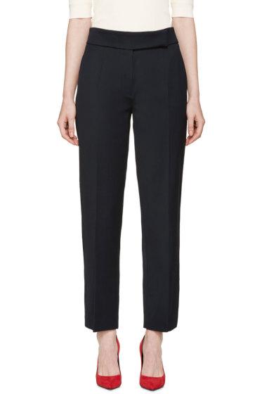 Nina Ricci - Navy Wool Gabardine Trousers