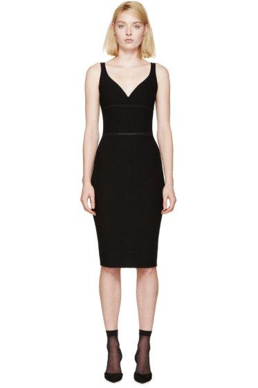 Nina Ricci - Black Ribbed Knit Dress