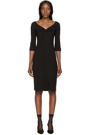 Nina Ricci - Black Wool Off-The-Shoulder Dress