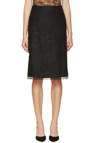 Nina Ricci - Black Lace Skirt