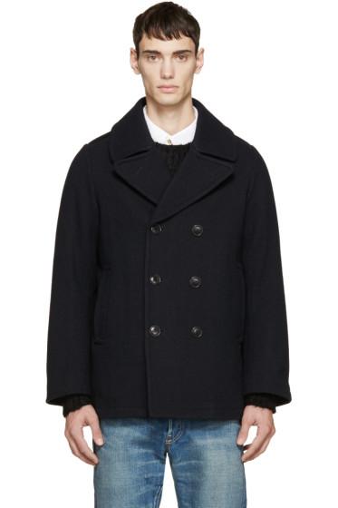 Visvim - Navy Vintage Tweed Lieutenant Coat