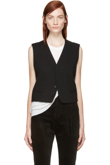 Haider Ackermann - Black Wool Vest