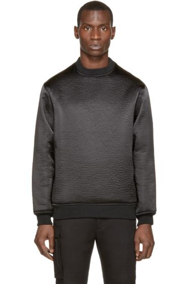Wanda Nylon - Black Textured Alan Sweater