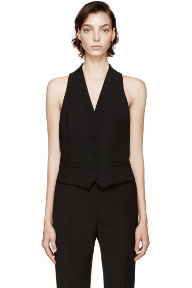 Pallas - Black Wool Waistcoat