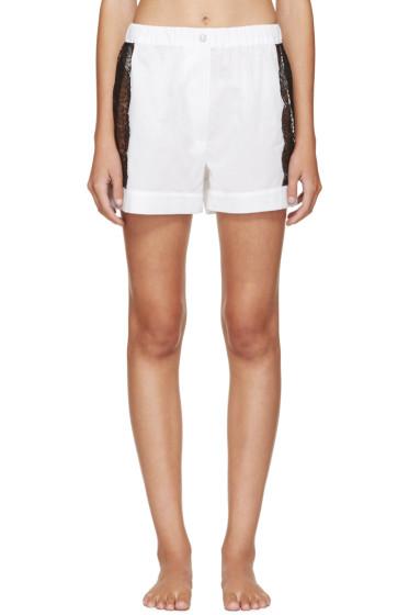Raphaëlla Riboud - White Lace-Inset Museletta Shorts