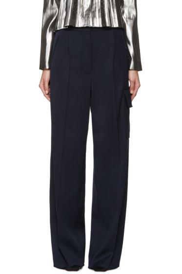 Loewe - Navy Wide-Leg Cargo Trousers